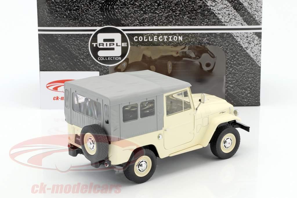 Toyota Land Cruiser FJ40 año de construcción 1967 beige / gris 1:18 Triple9