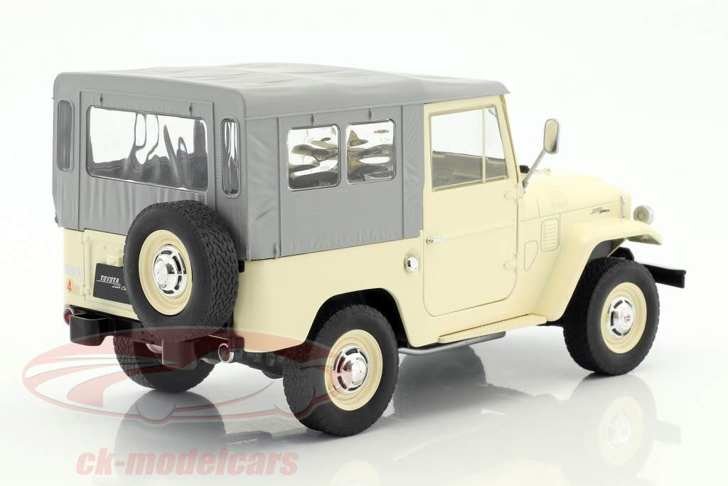 Toyota Land Cruiser FJ40 année de construction 1967 beige / gris 1:18 Triple9