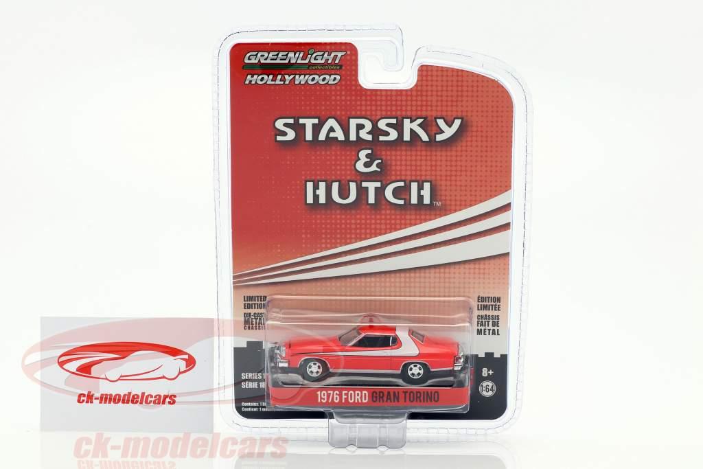 Ford Gran Torino Opførselsår 1976 TV-serie Starsky & Hutch (1975-1979) rød 1:64 Greenlight