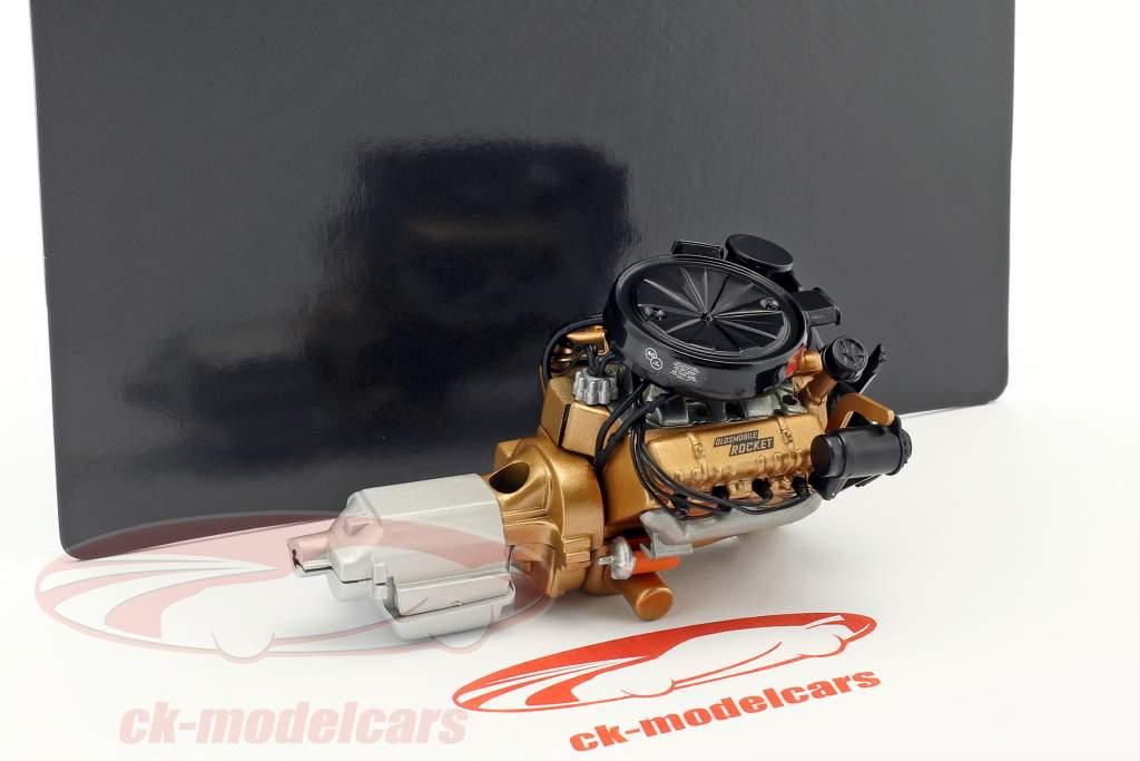 Oldsmobile Rocket moteur & transmission 1:18 GMP