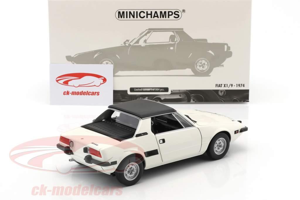 Fiat X1/9 anno di costruzione 1974 bianco 1:18 Minichamps