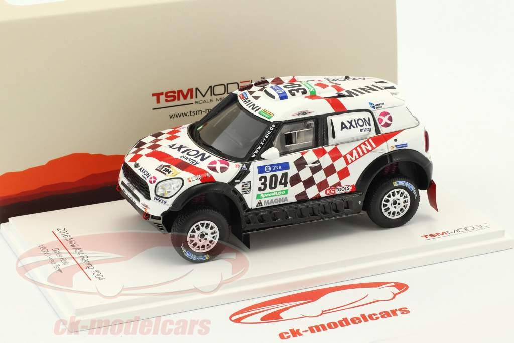 Mini All4 Racing #304 Rallye Dakar 2016 Roma, Bravo 1:43 True Scale