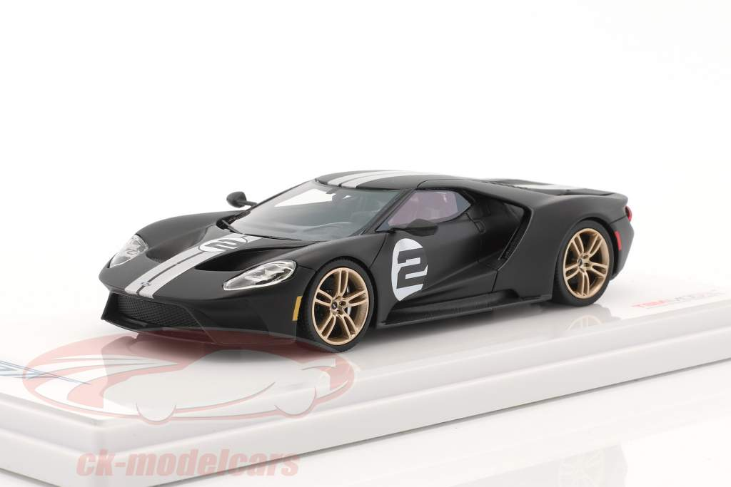 Ford GT Heritage Edition 2017 mat black 1:43 True Scale
