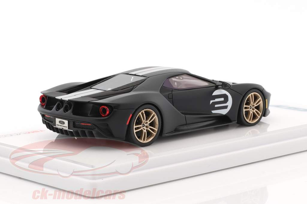 Ford GT Heritage Edition 2017 tappetino nero 1:43 True Scale