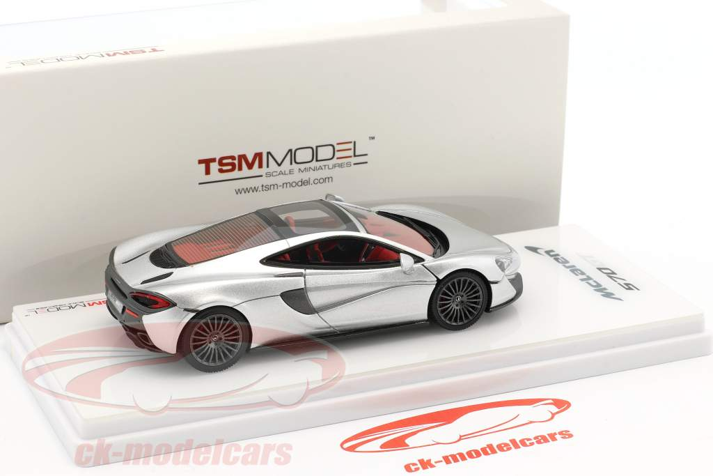 McLaren 570GT Construction year 2016 silver metallic 1:43 True Scale