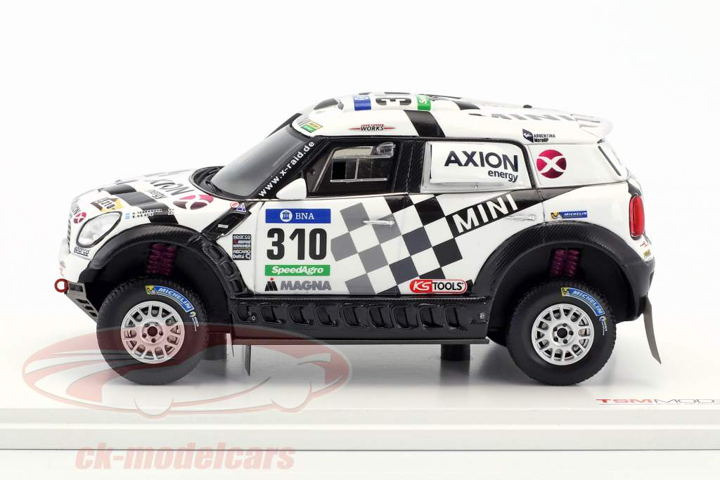 Mini All4 Racing #310 Rallye Dakar 2016 Terranova, Graue 1:43 True Scale