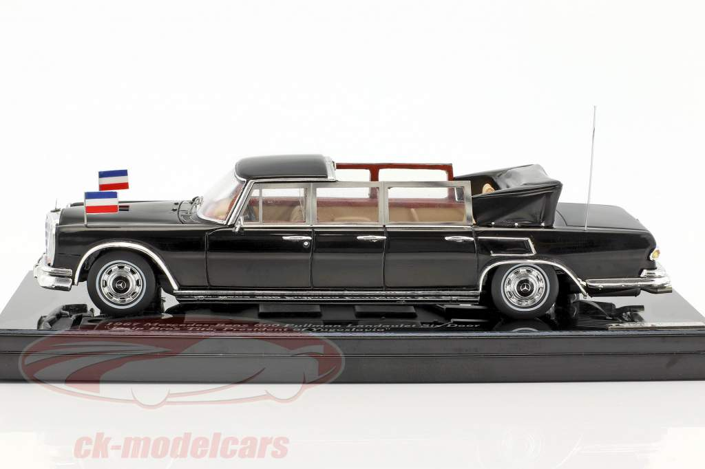 Mercedes-Benz 600 Pullman Landaulet 6-Door Josip Broz Tito year 1967 black 1:43 True Scale