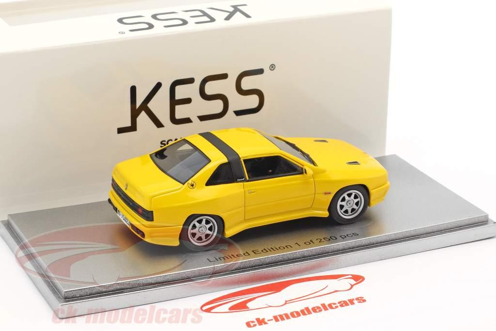 Maserati Shamal Baujahr 1988 gelb 1:43 KESS
