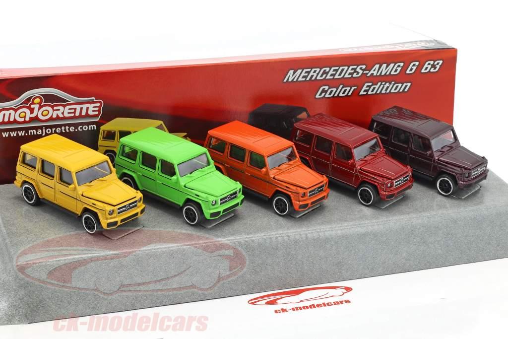 5-Car Set Mercedes-Benz AMG G63 kleur editie Gift Pack 1:64 Majorette