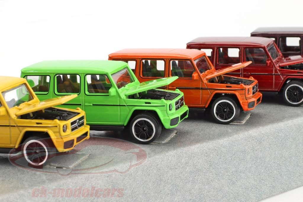 5-Car Set Mercedes-Benz AMG G63 couleur édition Paquet cadeau 1:64 Majorette