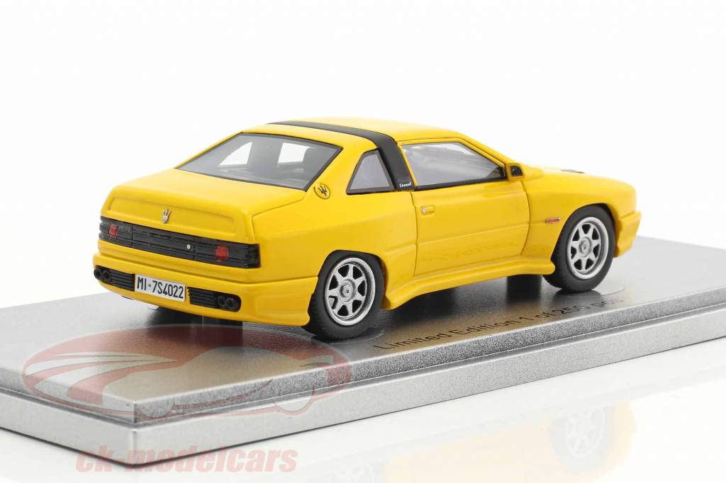 Maserati Shamal year 1988 yellow 1:43 KESS