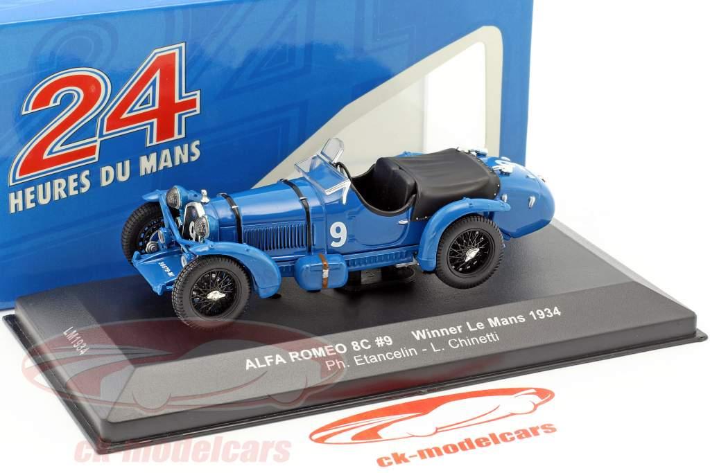 Alfa Romeo 8C #9 Etancelin, Chinetti winnaar 24h LeMans 1934 1:43 Ixo