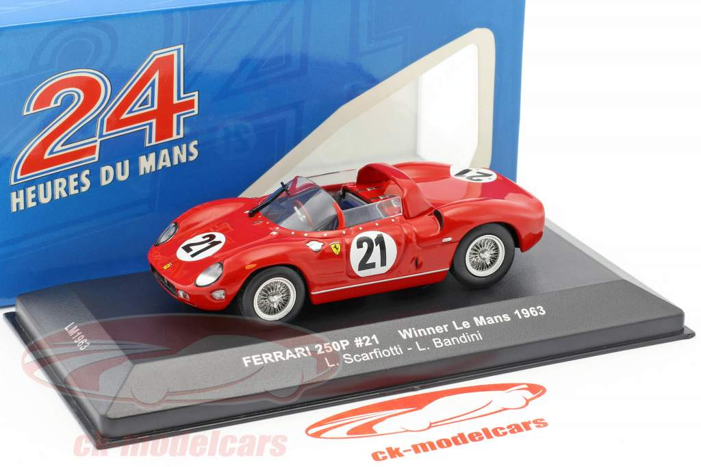 Ferrari 250P #21 vencedor 24h LeMans 1963 Scarfiotti, Bandini 1:43 Ixo