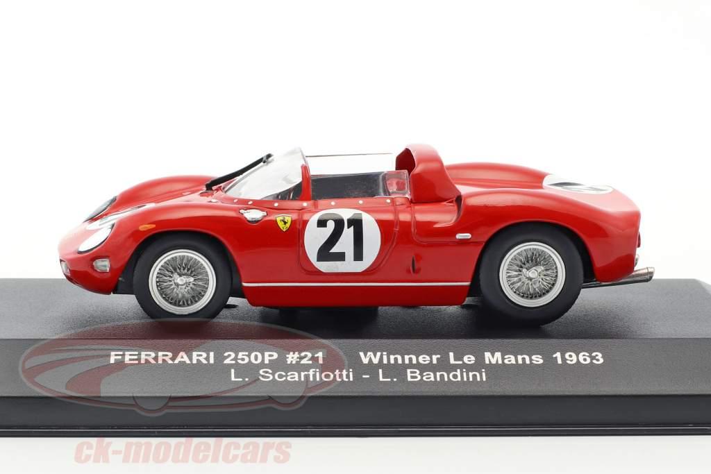 Ferrari 250P #21 vincitore 24h LeMans 1963 Scarfiotti, Bandini 1:43 Ixo