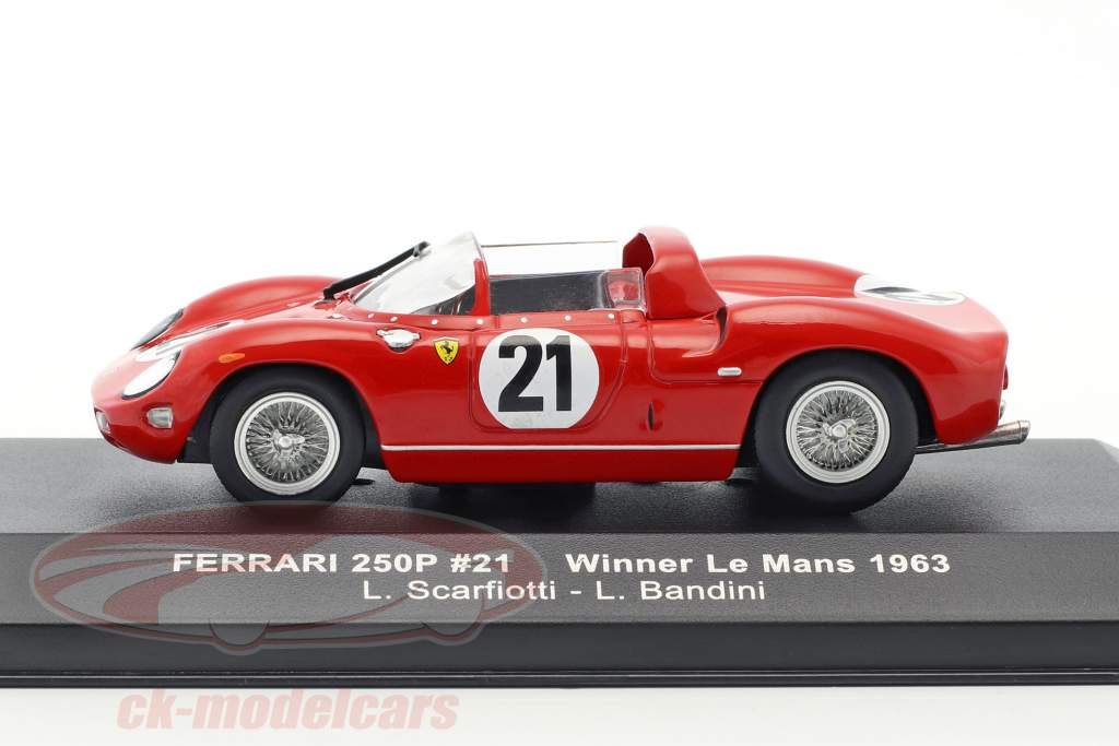 Ferrari 250P #21 Winner 24h LeMans 1963 Scarfiotti, Bandini 1:43 Ixo