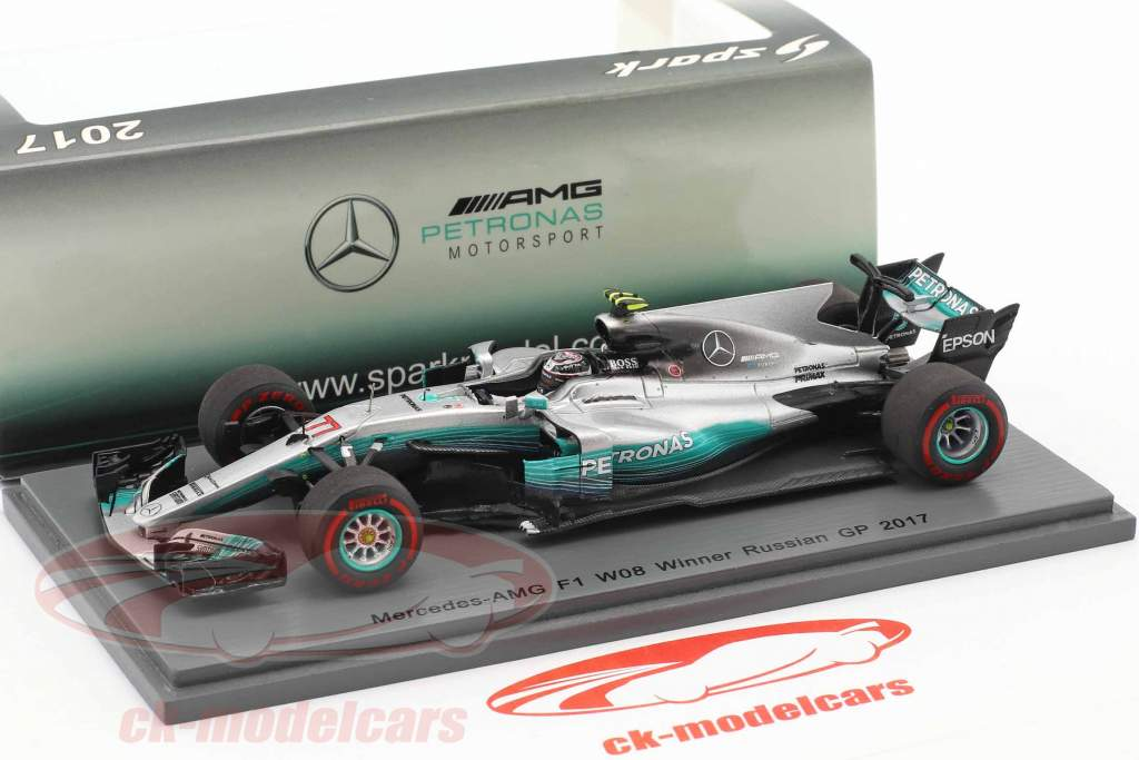 Valtteri Bottas Mercedes AMG F1 W08 #77 vincitore russo GP formula 1 2017 1:43 Spark