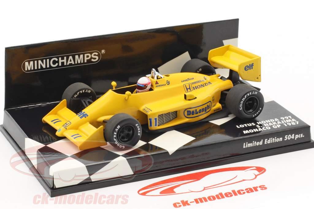 Satoru Nakajima Lotus 99T #11 Monaco GP Formel 1 1987 1:43 Minichamps