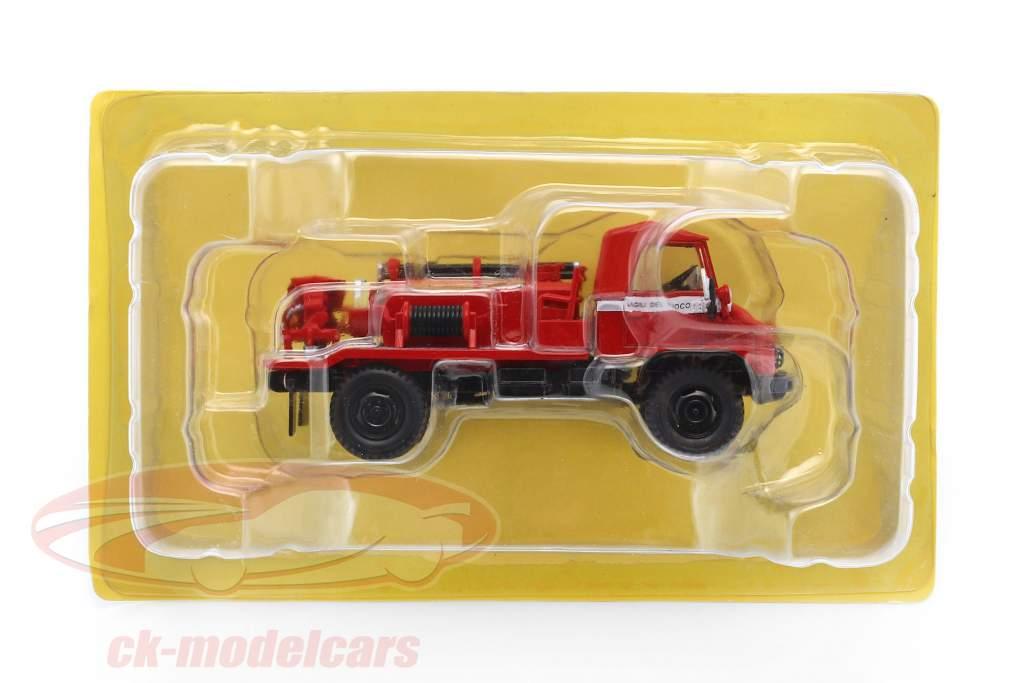 Mercedes-Benz Unimog 404 brandweer rood 1:43 Atlas