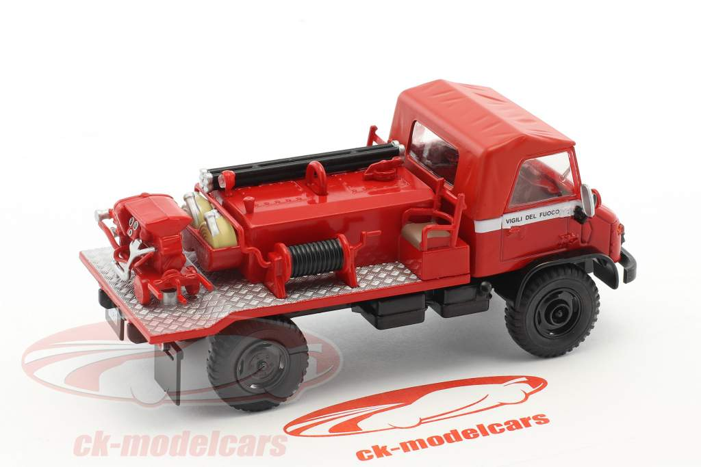 Mercedes-Benz Unimog 404 Fire Department red 1:43 Atlas