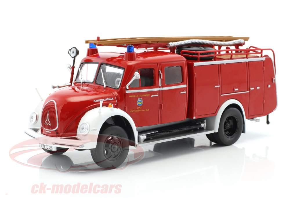 Magirus Deutz bombeiros Pfaffenhofen vermelho 1:43 Atlas