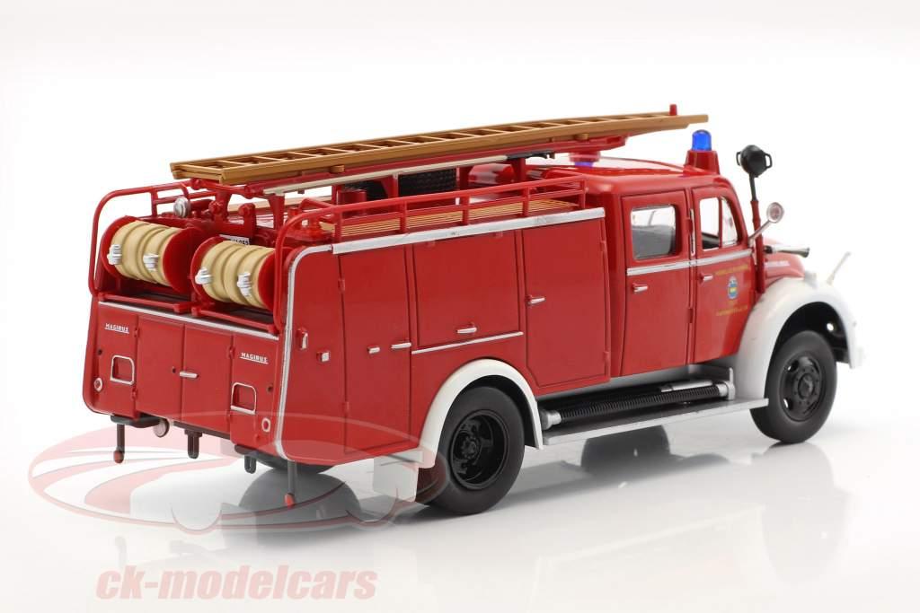 Magirus Deutz vigili del fuoco Pfaffenhofen rosso 1:43 Atlas