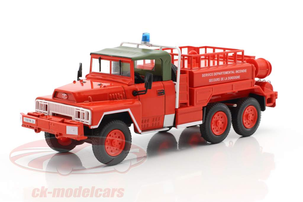 ACMAT 6x6 SDIS de la Dordogne vigili del fuoco rosso 1:43 Atlas