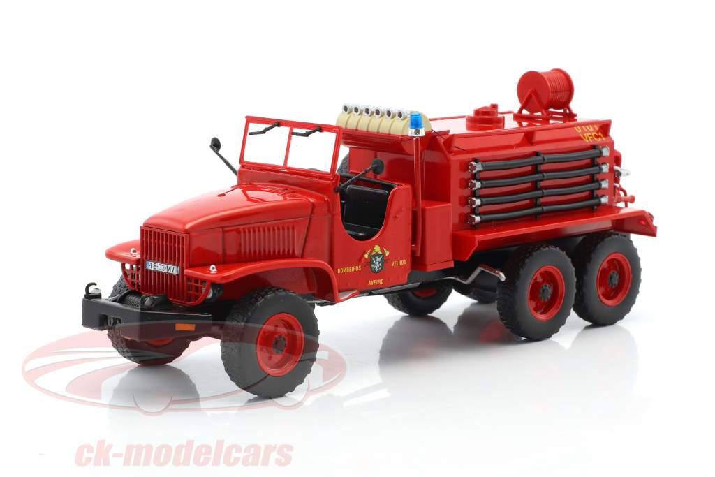 GMC CCF pompiers Aveiro rouge 1:43 Atlas
