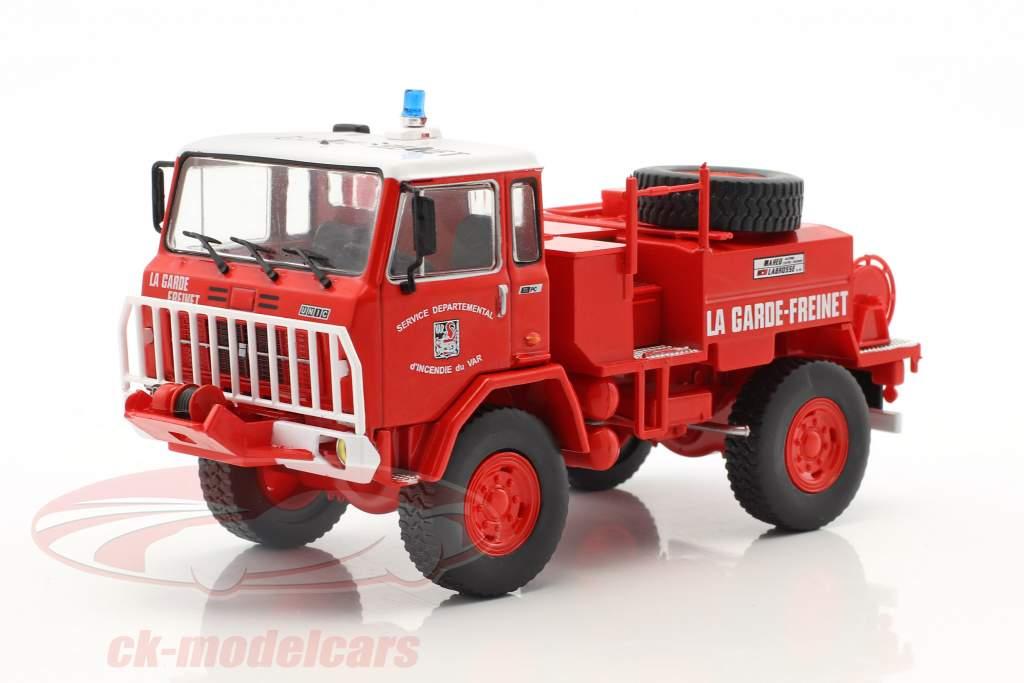 UNIC 75 PC La Garde-Freinet Feuerwehr rot / weiß 1:43 Atlas