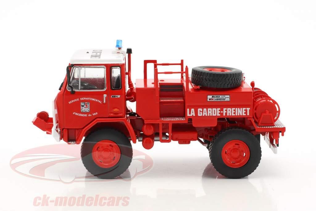 UNIC 75 PC La Garde-Freinet vigili del fuoco rosso / bianco 1:43 Atlas