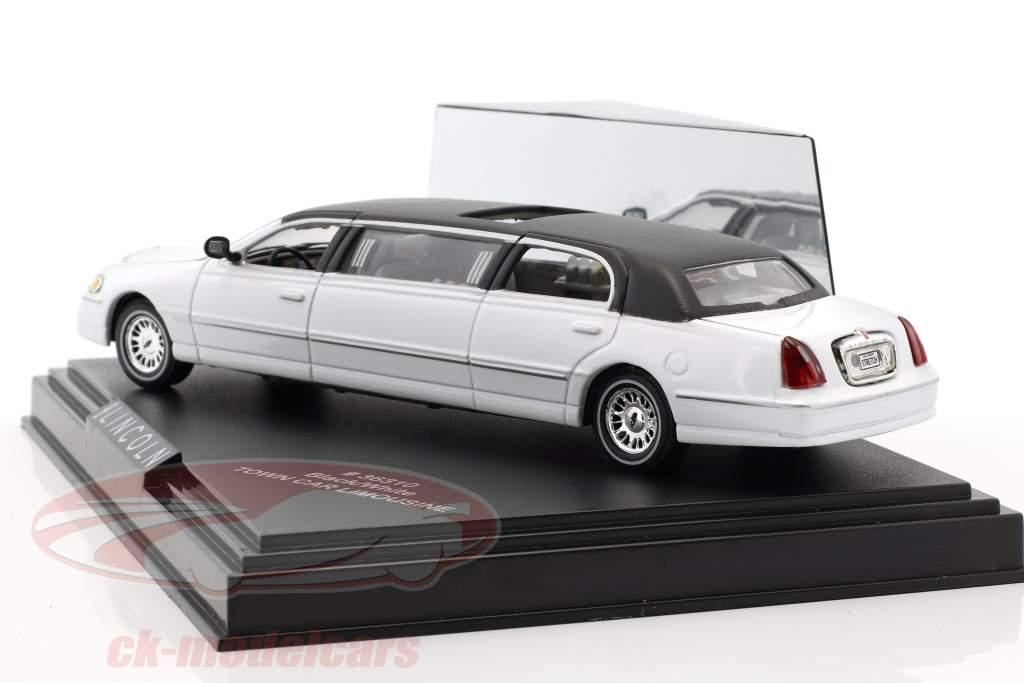 Town Car Limousine Baujahr 2000 weiß / schwarz 1:43 Vitesse