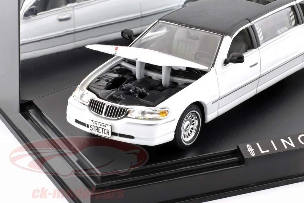 Town Car Limousine année de construction 2000 blanc / noir 1:43 Vitesse