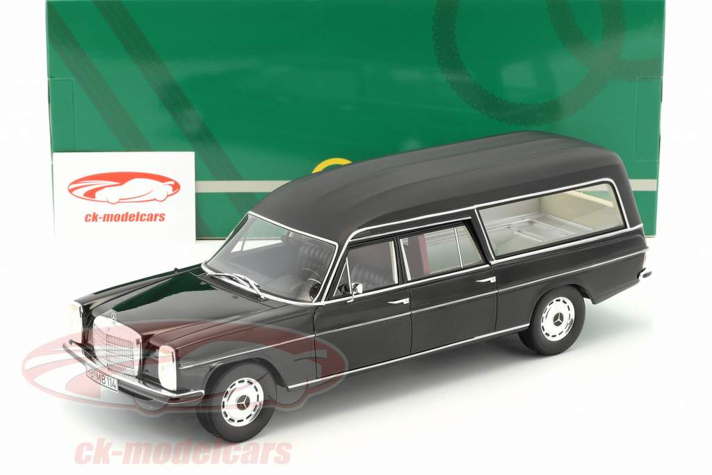 Mercedes-Benz W114 Pollmann hearse year 1972 black 1:18 Cult Scale