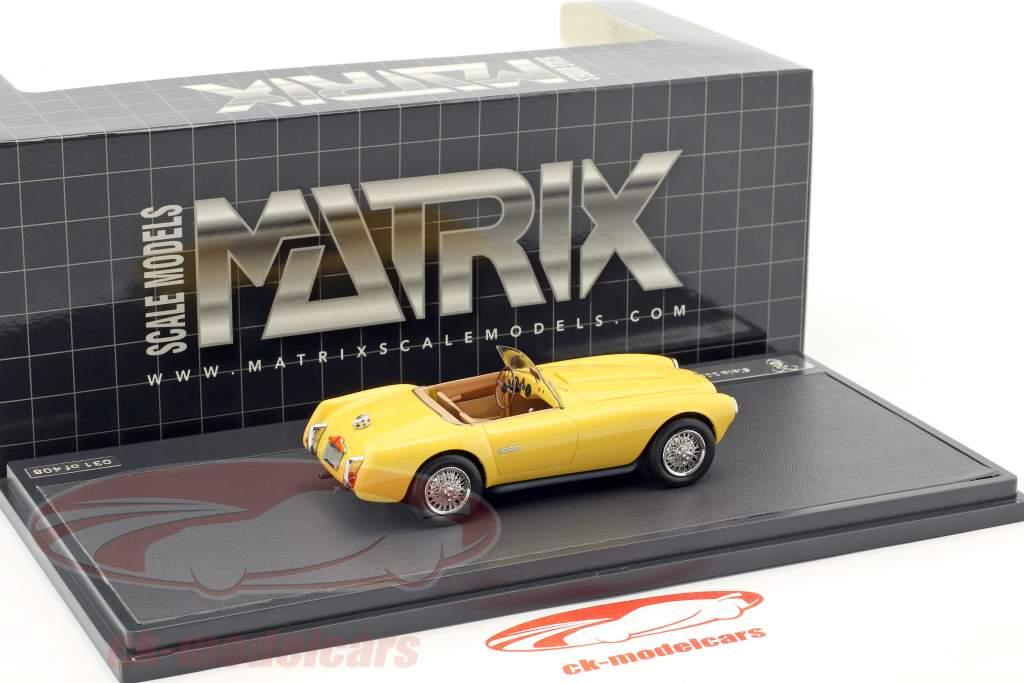 Siata 208S Motto Spider anno di costruzione 1953 giallo 1:43 Matrix