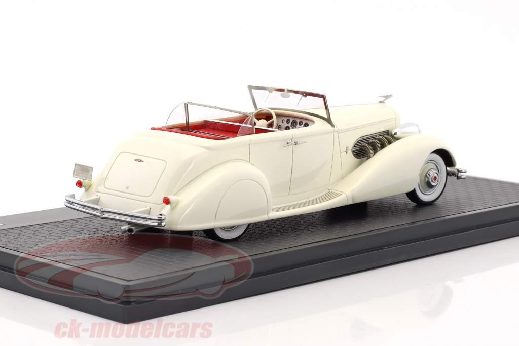 Duesenberg SJ 544-2570 Bohman & Schwartz convertible berline année de construction 1936 blanc 1:43 Matrix