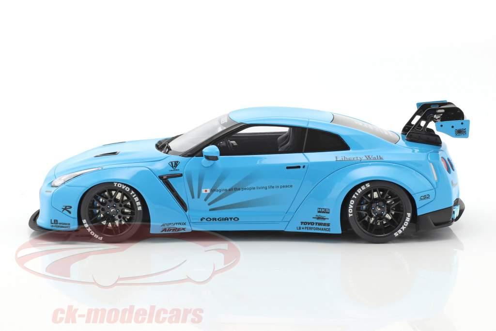 Nissan GTR (R35) LB Performance bleu clair 1:18 GT-Spirit