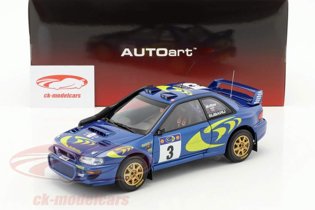 Subaru Impreza S3 #3 vincitore Rallye Safari 1997 McRae, Grist 1:18 AUTOart