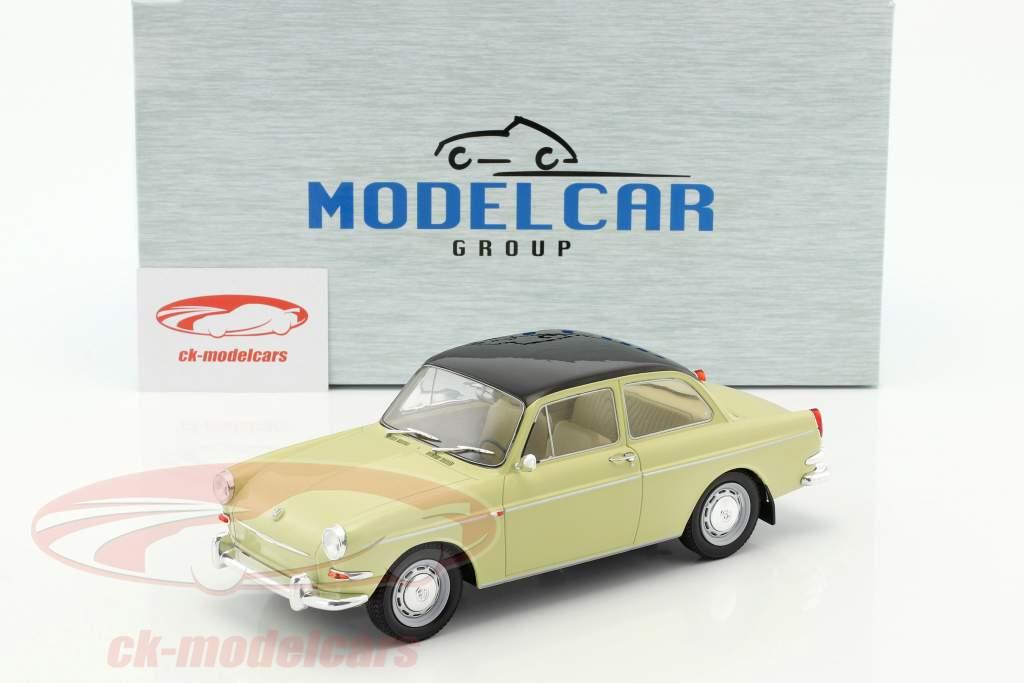Volkswagen VW 1500 S (Typ 3) Baujahr 1963 beige / schwarz 1:18 Model Car Group