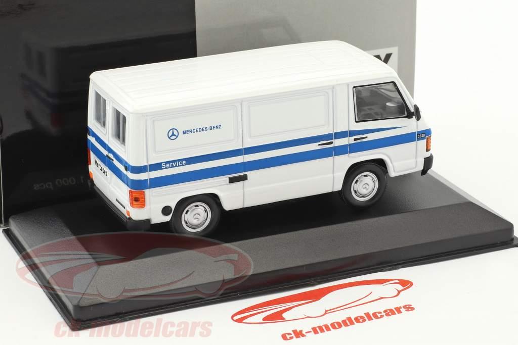Mercedes-Benz MB 100 furgone Mercedes Service bianco / blu 1:43 WhiteBox