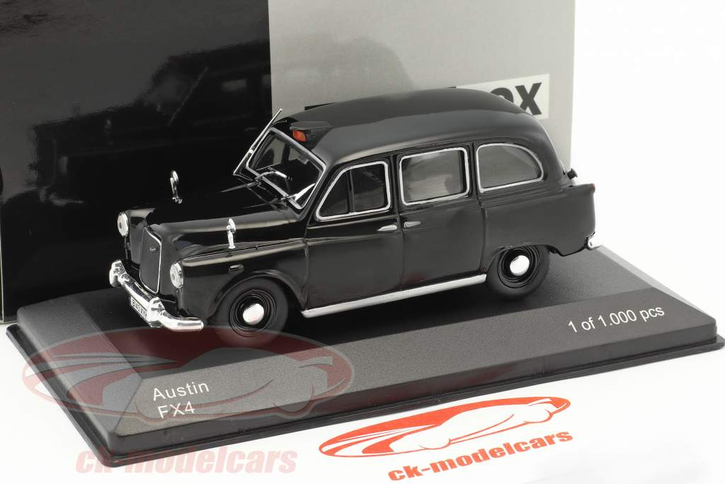Austin FX4 RHD Londres taxi noir 1:43 WhiteBox