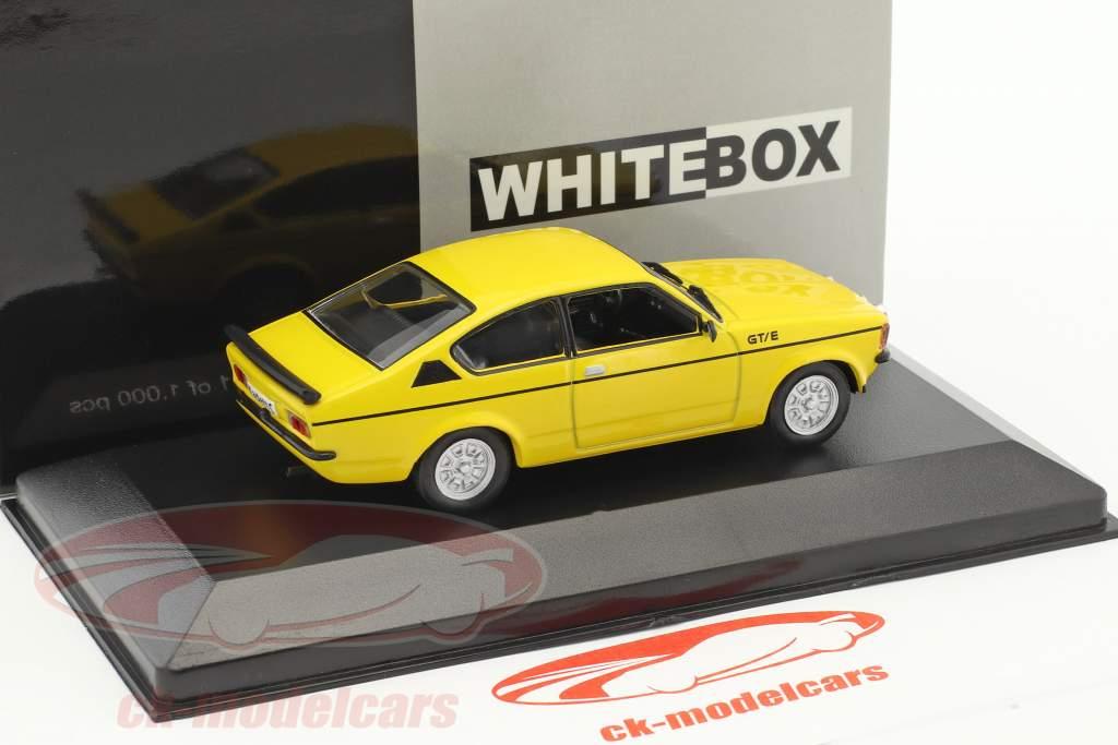 Opel Kadett C GT/E année de construction 1978 jaune 1:43 WhiteBox