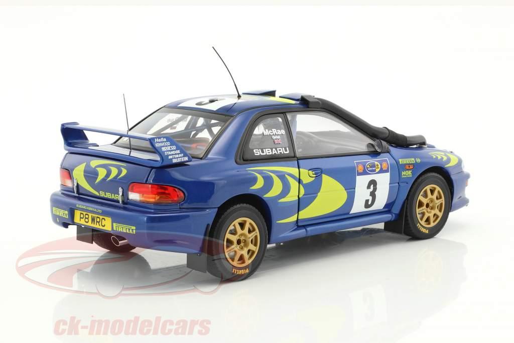 Subaru Impreza S3 #3 winnaar Rallye Safari 1997 McRae, Grist 1:18 AUTOart