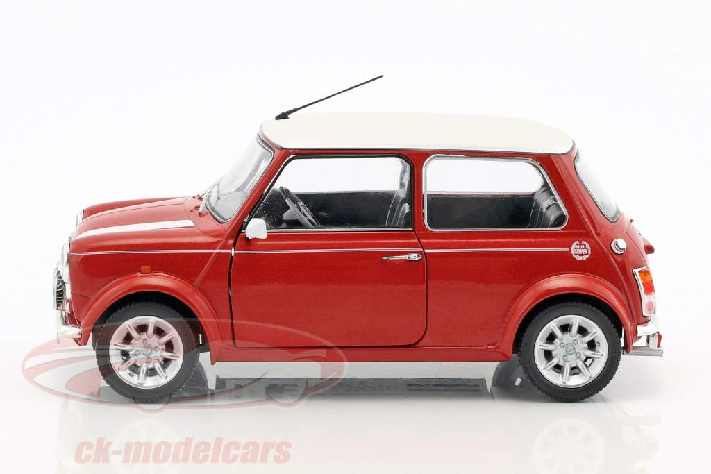 Mini Cooper 1.3i Sport Pack year 1997 red metallic / White 1:18 Solido