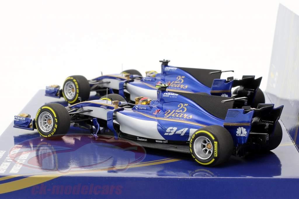 M. Ericsson #9 & P. Wehrlein #94 2-Car Set Sauber C36 formula 1 2017 1:43 Minichamps