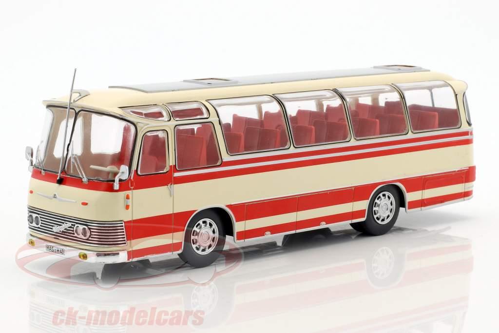 Neoplan NH 9L ônibus ano de construção 1964 bege / vermelho 1:43 Ixo
