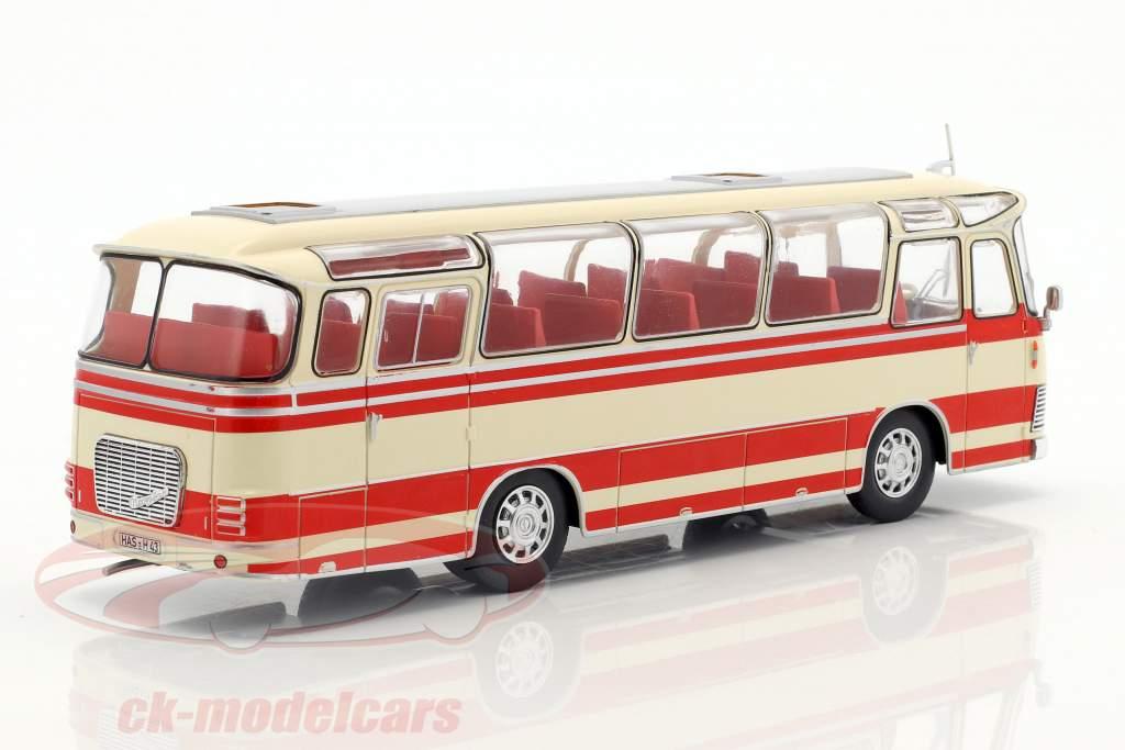 Neoplan NH 9L bus Bouwjaar 1964 beige / rood 1:43 Ixo