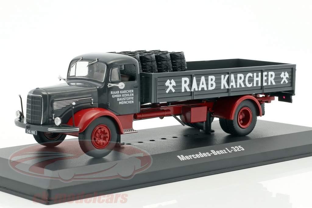 Mercedes-Benz L-325 Raab Karcher with Cargo dark gray / red 1:43 Ixo