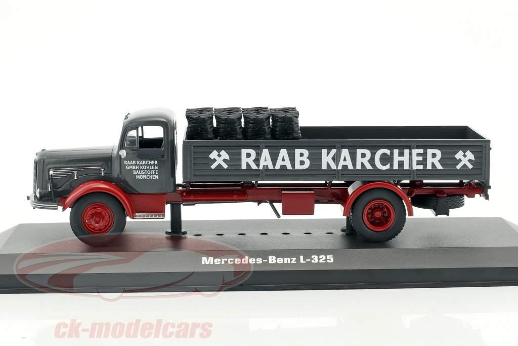 Mercedes-Benz L-325 Raab Karcher avec cargaison sombre gris / rouge 1:43 Ixo