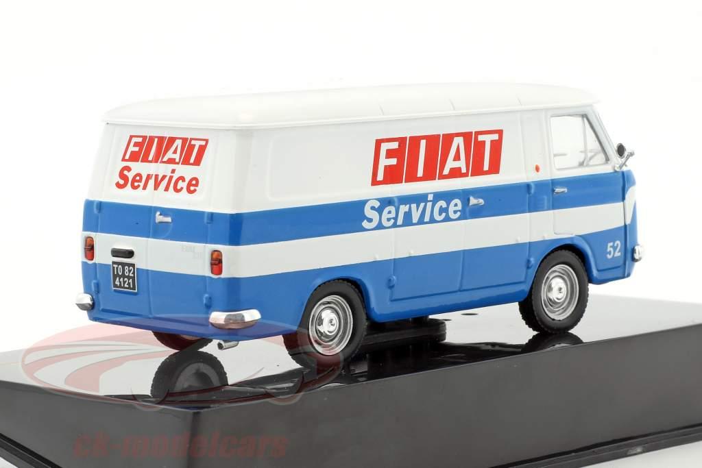 Fiat 238 van Fiat Service année de construction 1971 blanc / bleu 1:43 Ixo