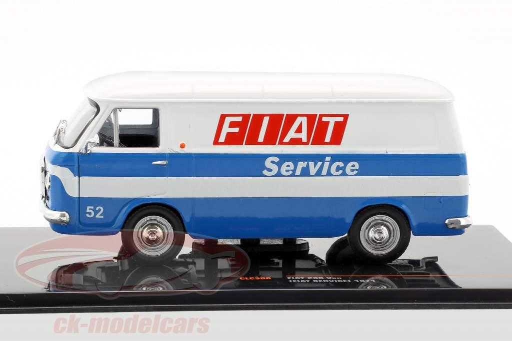 Fiat 238 Kastenwagen Fiat Service Baujahr 1971 weiß / blau 1:43 Ixo