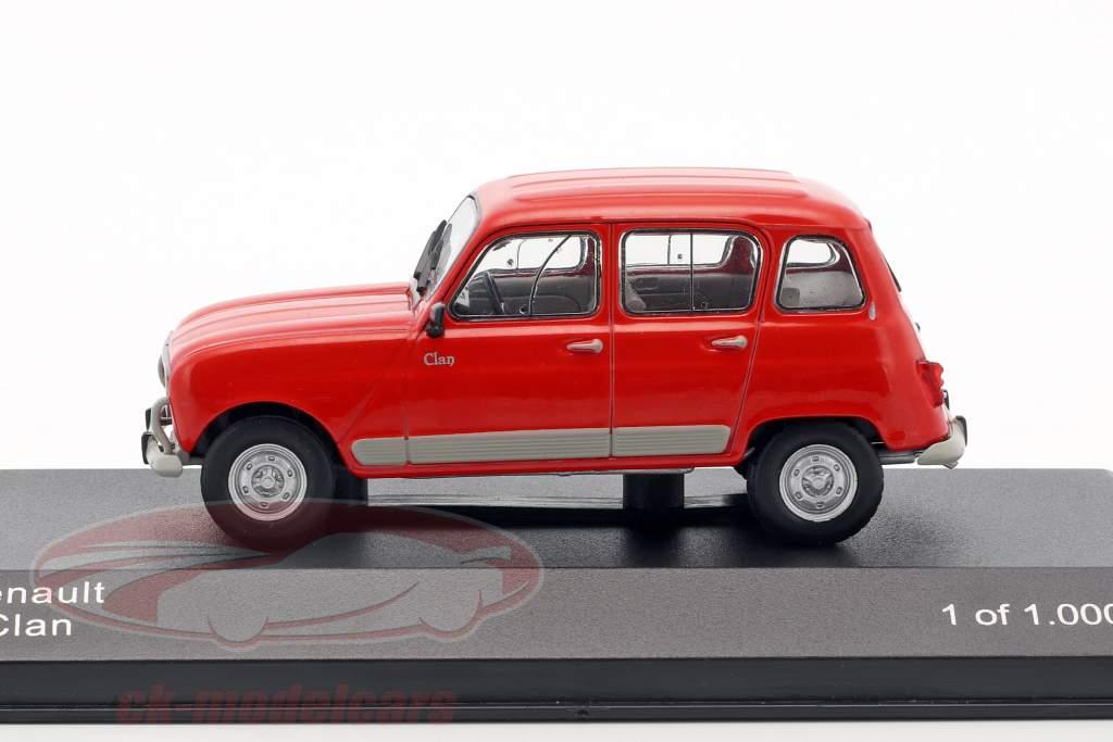 Renault 4 Clan year 1978 red 1:43 WhiteBox